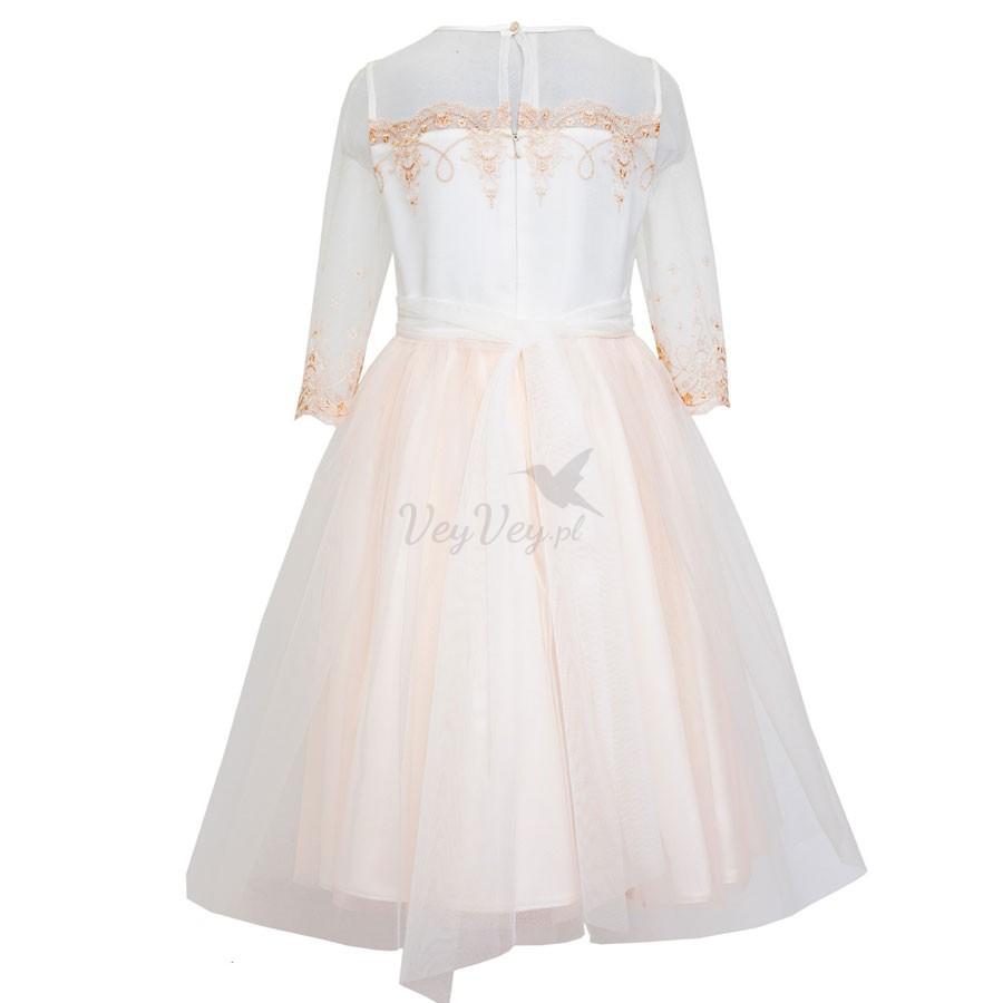 98454f706c ... Dziewczęca sukienka do Pierwszej Komunii Świętej